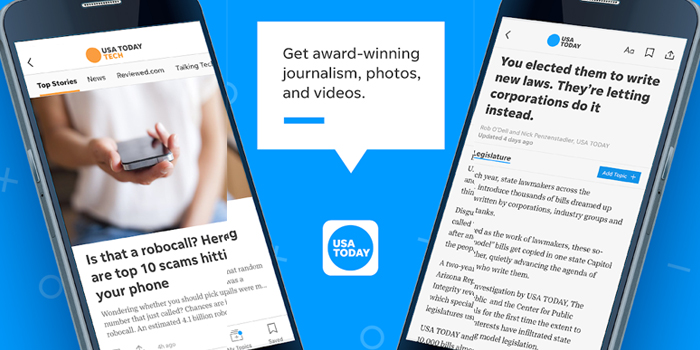 USA TODAY - PERSONALIZE NEWS FEED