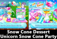 Snow Cone Dessert Unicorn Snow Cone Party